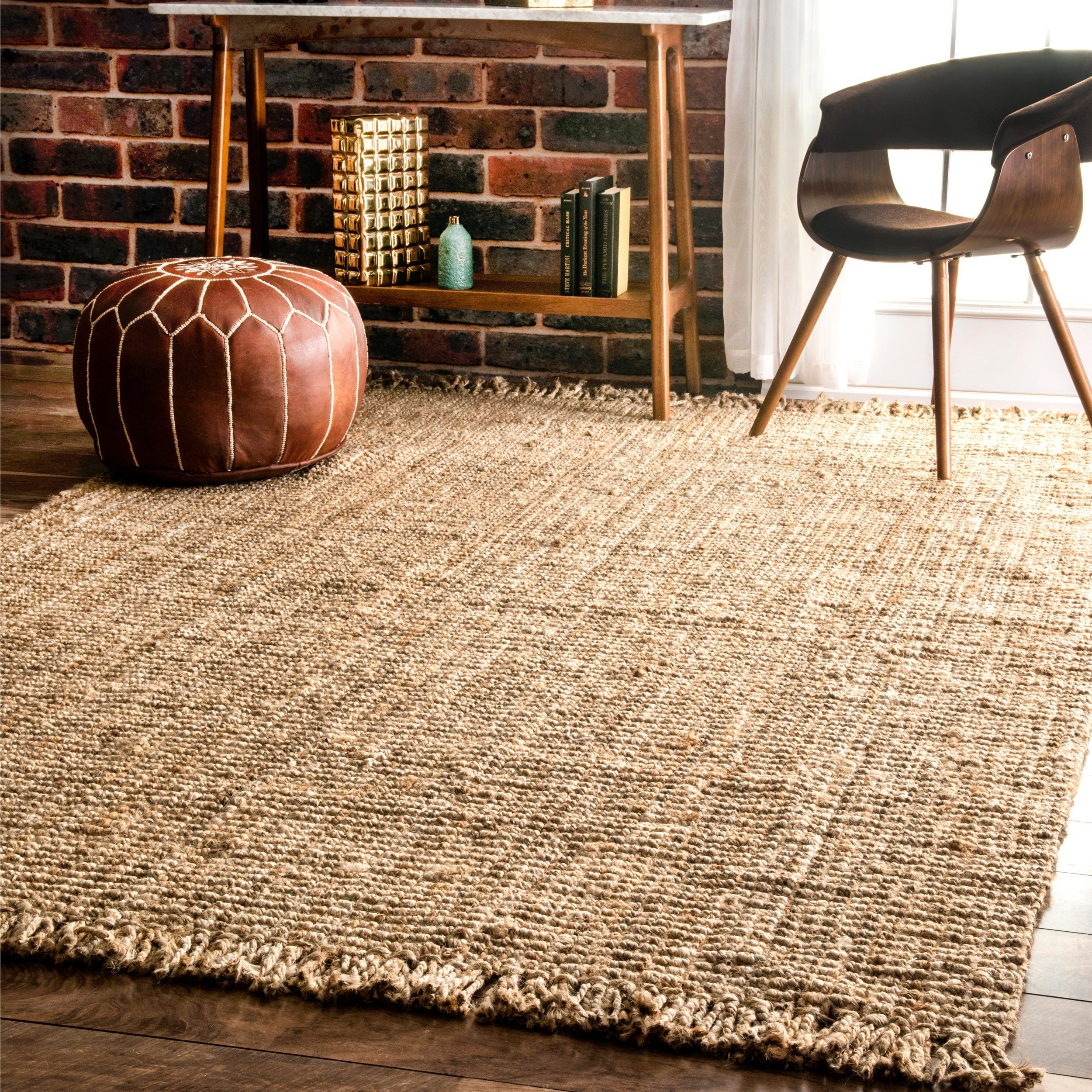 Shop Nuloom Handmade Braided Natural Jute Reversible Area