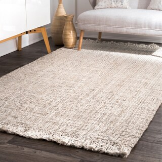 Havenside Home Caladesi Handmade Braided Natural Jute Reversible Area Rug (7' 6 x 9' 6) (4 options available)