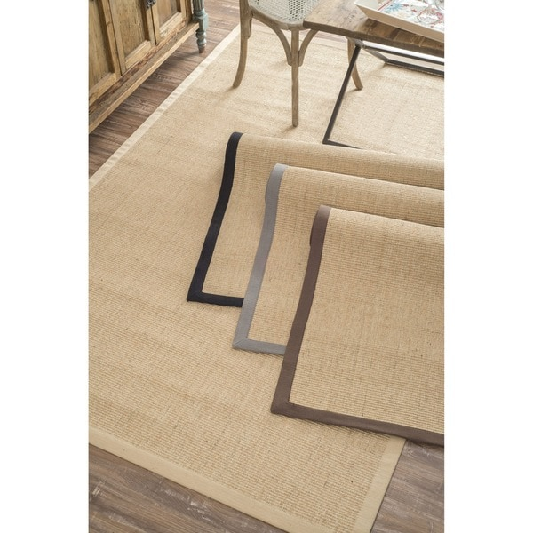 nuLOOM Handmade Alexa Eco Natural Fiber Cotton Border Sisal Rug (8' x 10')