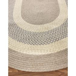 nuLOOM Handmade Reversible Braided Blue Cottage Rug (3'6 x 5'6 Oval)