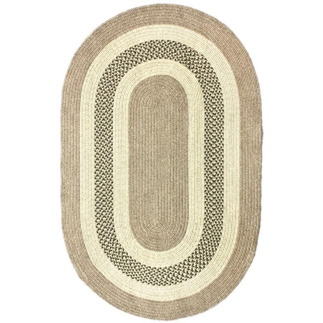 nuLOOM Handmade Reversible Braided Green Villa Rug (5' x 8' Oval) - Thumbnail 0