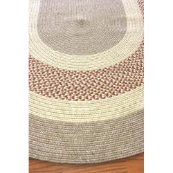 nuLOOM Handmade Reversible Braided Rust Lodge Rug (7'6 x 9'6 Oval) - Thumbnail 1