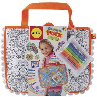 Alex Toys Paisley Flower Color a Tote Bag Kit