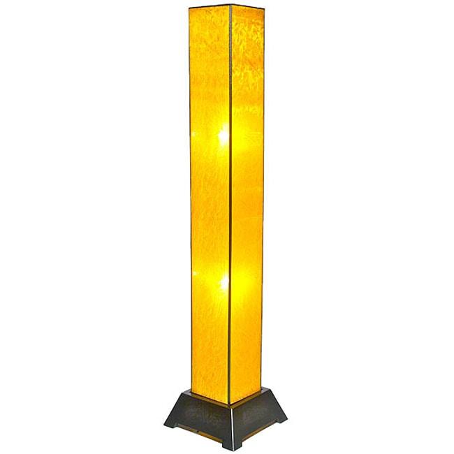 Tana Silk Gold Floor Lamp (Vietnam)