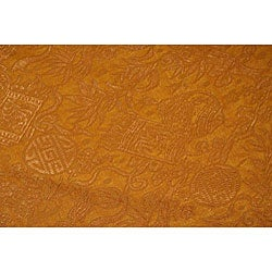 Tana Silk Gold Floor Lamp (Vietnam) - Thumbnail 1