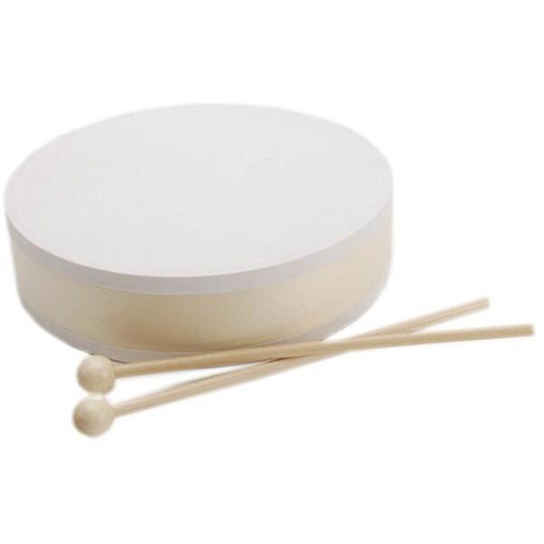 Unpainted Drum and Sticks Musical Instrument Set