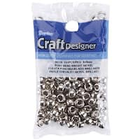 Nickel Pony Beads (Pack of 144)
