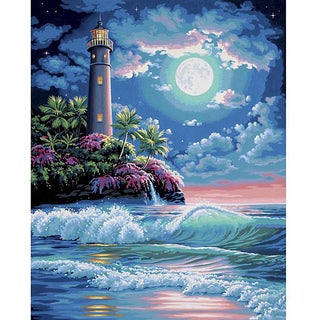 Paint By Number 'Lighthouse in the Moonlight' Kit