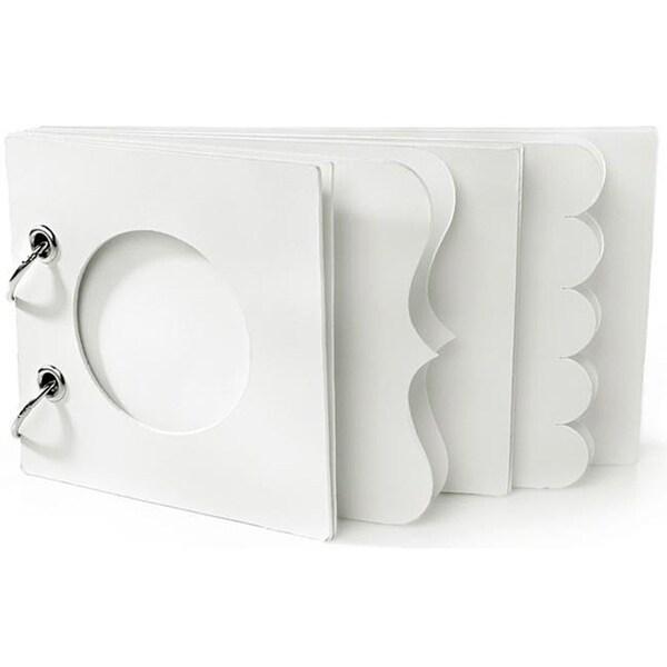 Doodlebug 'Plain & Simple' White Core Chip Scrapbook Album