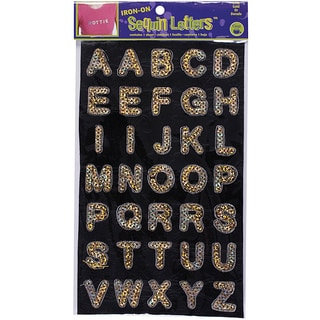 Dritz Gold Sequin Iron-On Letters (1 Sheet)
