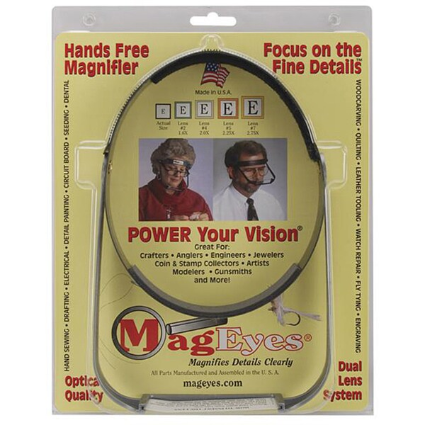 MagEyes Hands Free Double Magnifying Glasses
