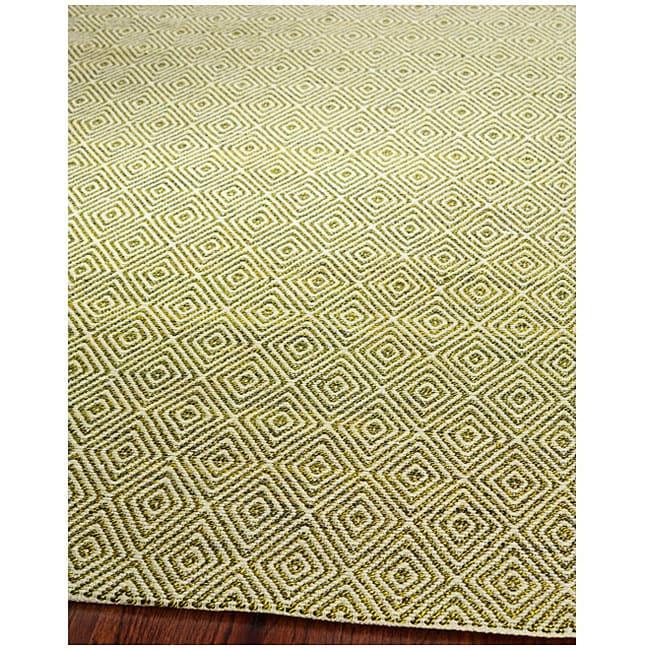 Safavieh Handmade South Hampton Zag Green Rug (5' x 8')