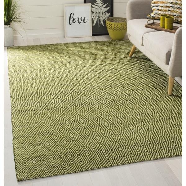 Safavieh Handmade South Hampton Zag Green Rug - 8' x 11'