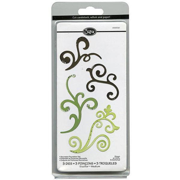 Sizzix Sizzlets Decorative Flourishes Die Cuts (Pack of 3)