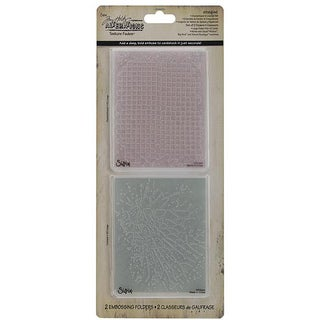 Ellison Sizzix Texture Fades 'Checkerboard & Cracked' Embossing Folders