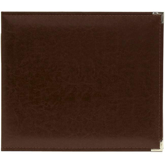 We R Classic Cinnamon Leather Ring Photo Album (8 x 8)