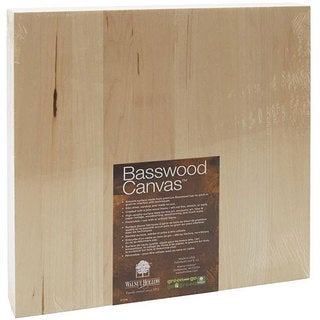 Basswood 12-inch Square Art Canvas