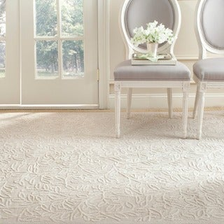 Martha Stewart by Safavieh Sprig Snowberry White Cotton Rug (3'9 x 5'9)