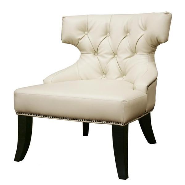 Taft Wood And Leather Club Chair