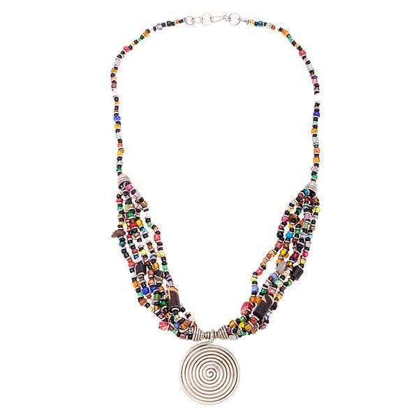 Silverplated Copper Beaded Elegance Necklace (Kenya)
