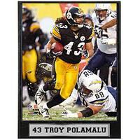 Pittsburgh Steelers Troy Polamalu 9x12-inch Plaque