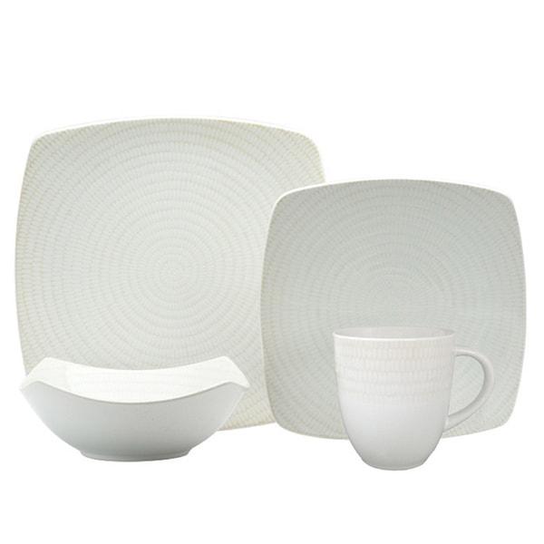 red vanilla white rice 16piece dinnerware set - White Dinnerware Sets