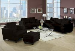 Marianna Red Bicast Leather 3-piece Sofa Set - Thumbnail 1