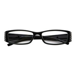 Black Rhinestone Computer Reading Glasses