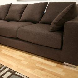 Florence Twill Fabric Chrome Sectional Sofa