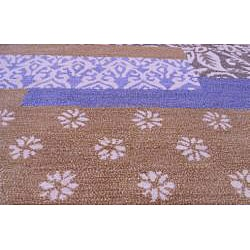 Hand-tufted Metro Mixed Blue Wool Rug (8' x 11') - Thumbnail 1