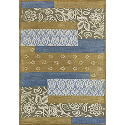 Hand-tufted Metro Mixed Blue Wool Rug (8' x 11') - Thumbnail 0