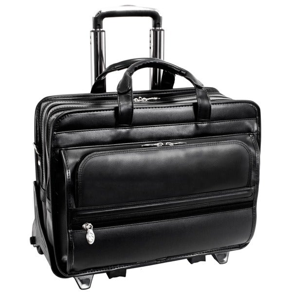 McKlein Franklin Leather 17-inch Detachable-wheel Laptop Case