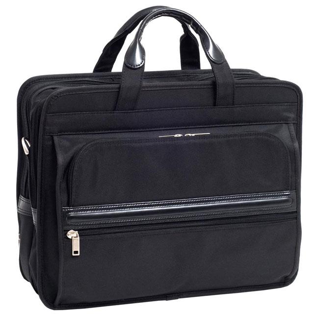 McKlein Elston Nylon Double-compartment Laptop Briefcase (Nylon - Black - Lined)