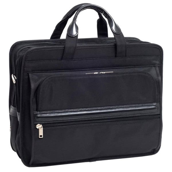 McKlein Elston Nylon Double-compartment Laptop Briefcase. Opens flyout.