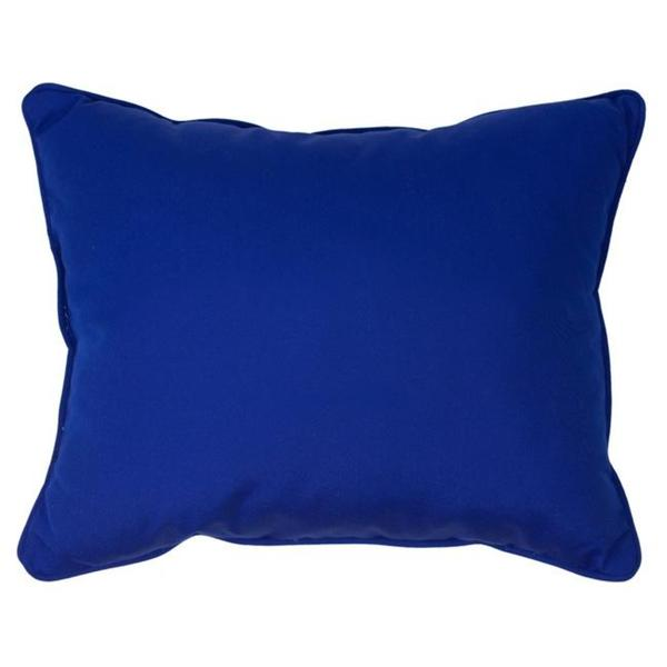 Canvas Blue Corded Indoor Outdoor Pillows Set of 2