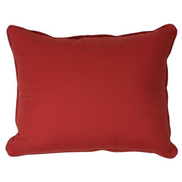 Canvas Jocky Red Corded Outdoor Pillows (Set of 2)