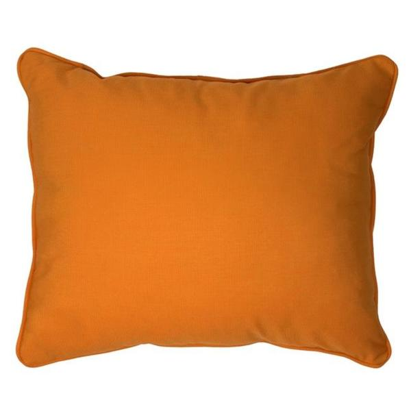 Shop Canvas Tangerine Corded Outdoor Pillows Set Of 2 On Sale