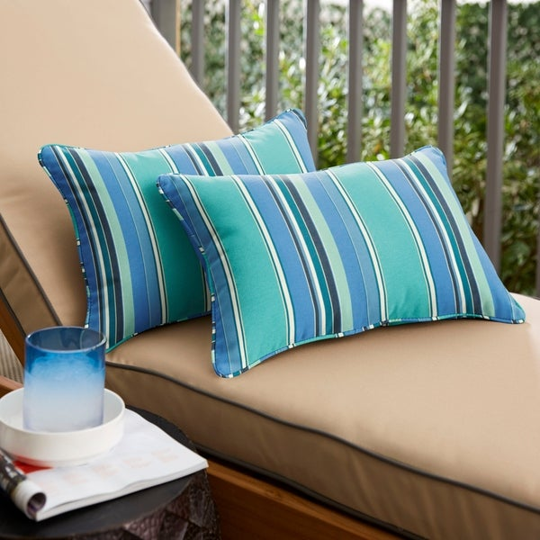 Sunbrella Outdoor Pillows Teal 15 Samuelhill Co