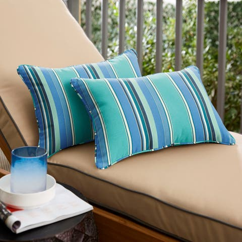 Dolce Oasis Corded Outdoor Pillows with Sunbrella Fabric (Set of 2)