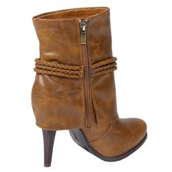 Bamboo by Journee Women's Rope Detail Boot
