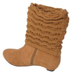Bamboo by Journee Women's Knit Cuff Boot
