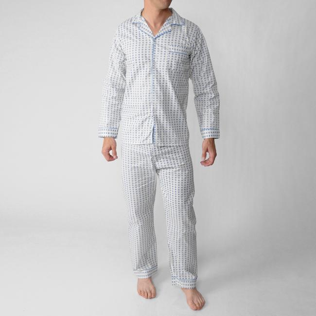 Ten West by Daxx Men's Two-Piece Long-Sleeve Cotton/Polyester ...