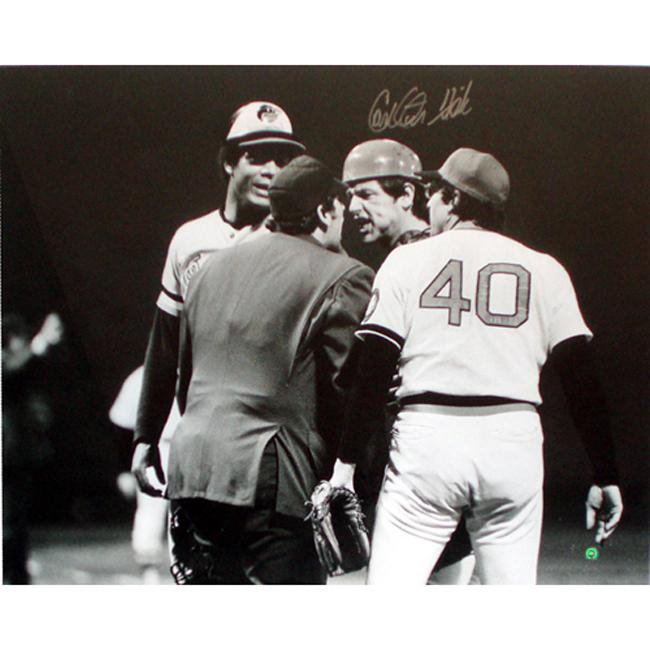 Steiner Sports Autographed Carlton Fisk Arguing with Umpire Photograph