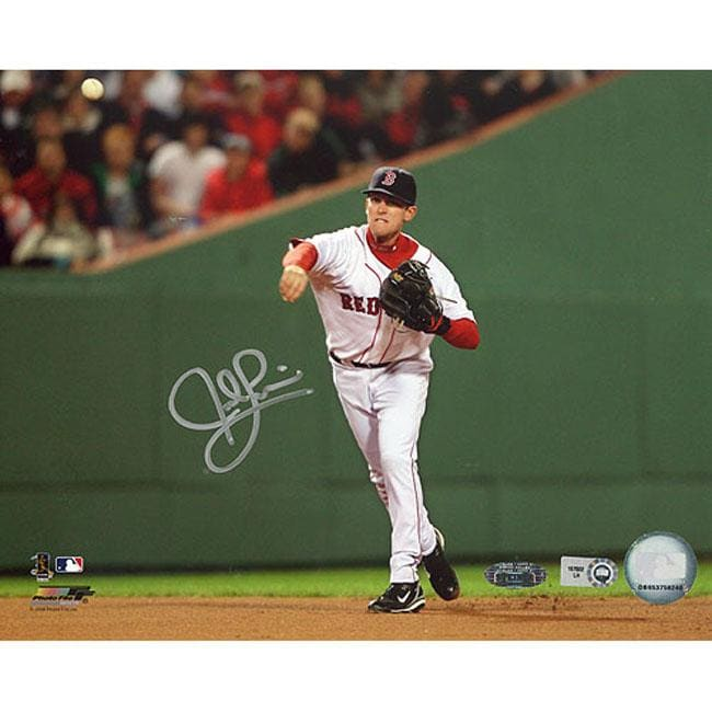 Steiner Sports Autographed Jed Lowrie 2008 Home Fielding Photograph