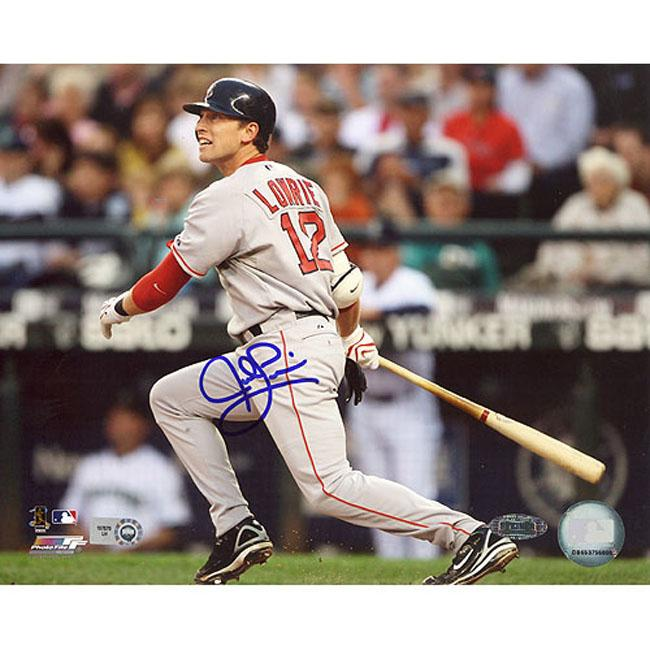 Steiner Sports Autographed Jed Lowrie 2008 Road Batting Photograph