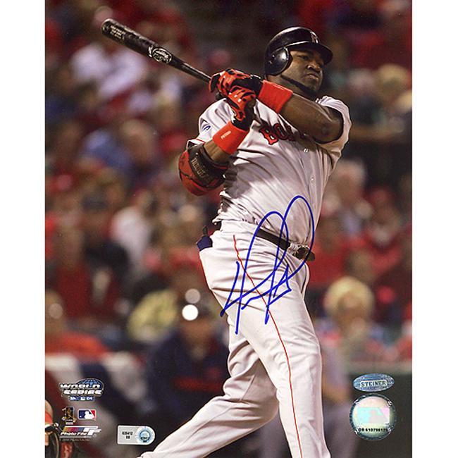 Boston Red Sox David Ortiz ALCS Game 4 Home Run Autographed Photo