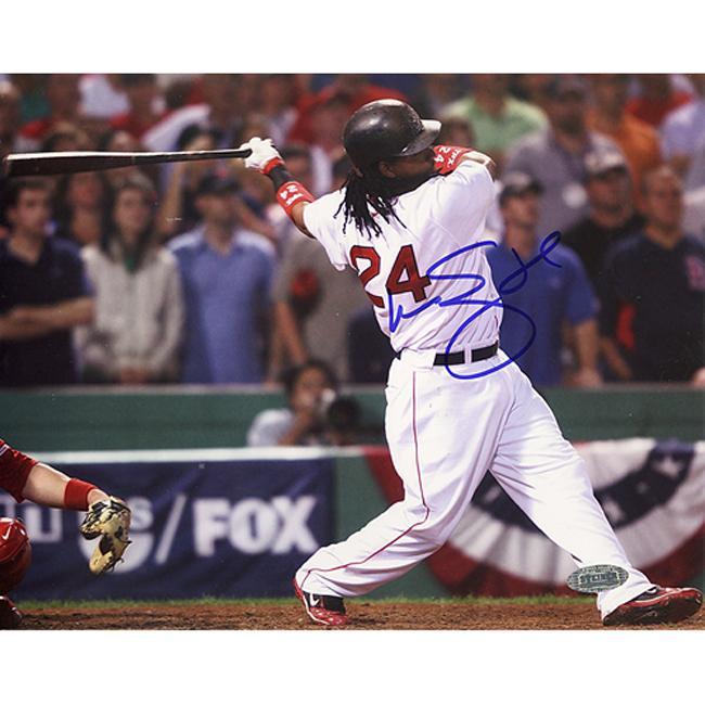 Steiner Sports Autographed Manny Ramirez 2007 ALDS Swing Photograph
