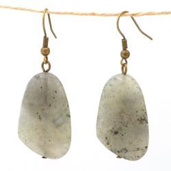 Handmade Nickel-free Brass Labradorite Earrings (China) - Thumbnail 2