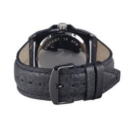 Hector H France Men's 'Fashion' Leather Strap Quartz Watch - Thumbnail 2