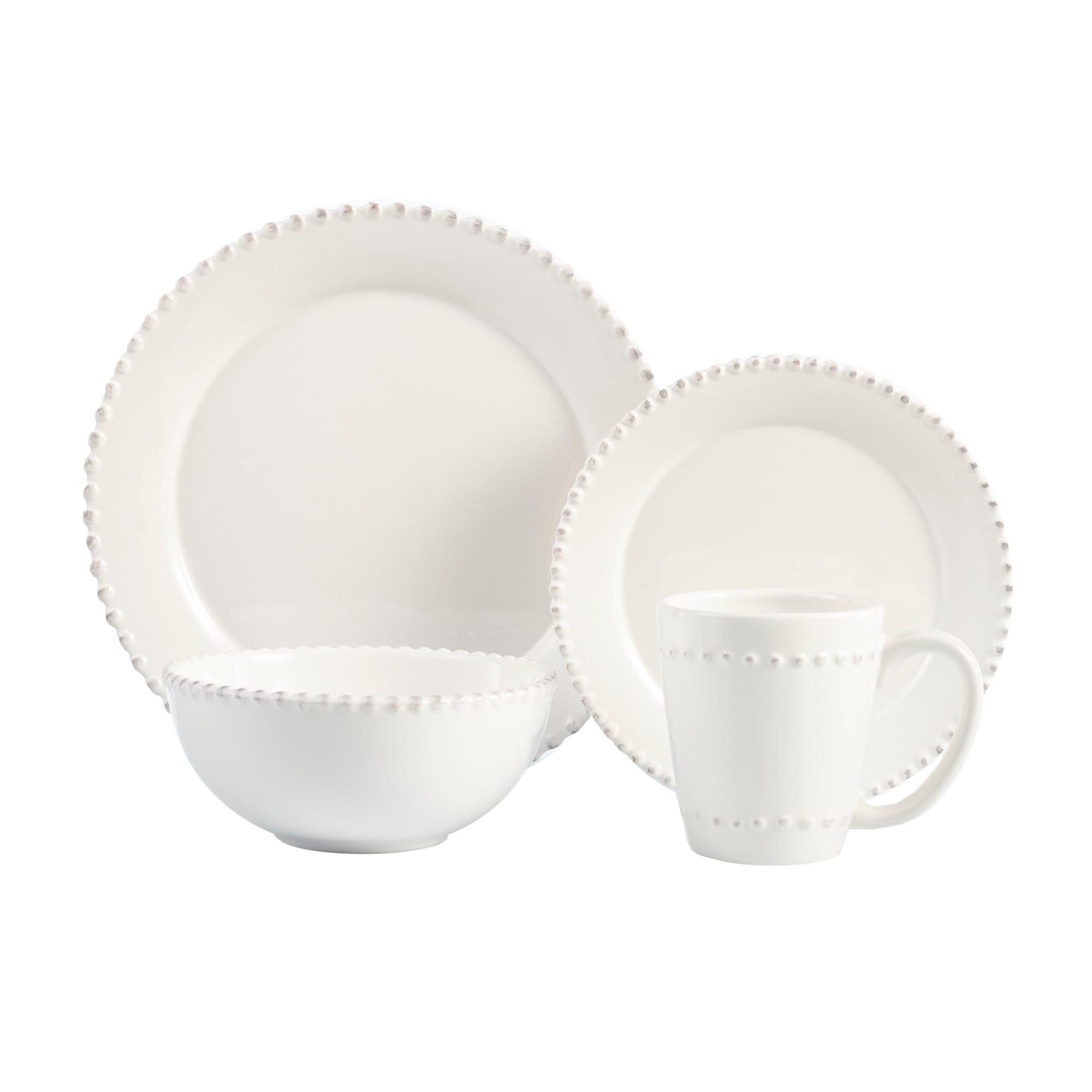 American Atelier Bianca Bead 16-piece Dinnerware Set (Ame...